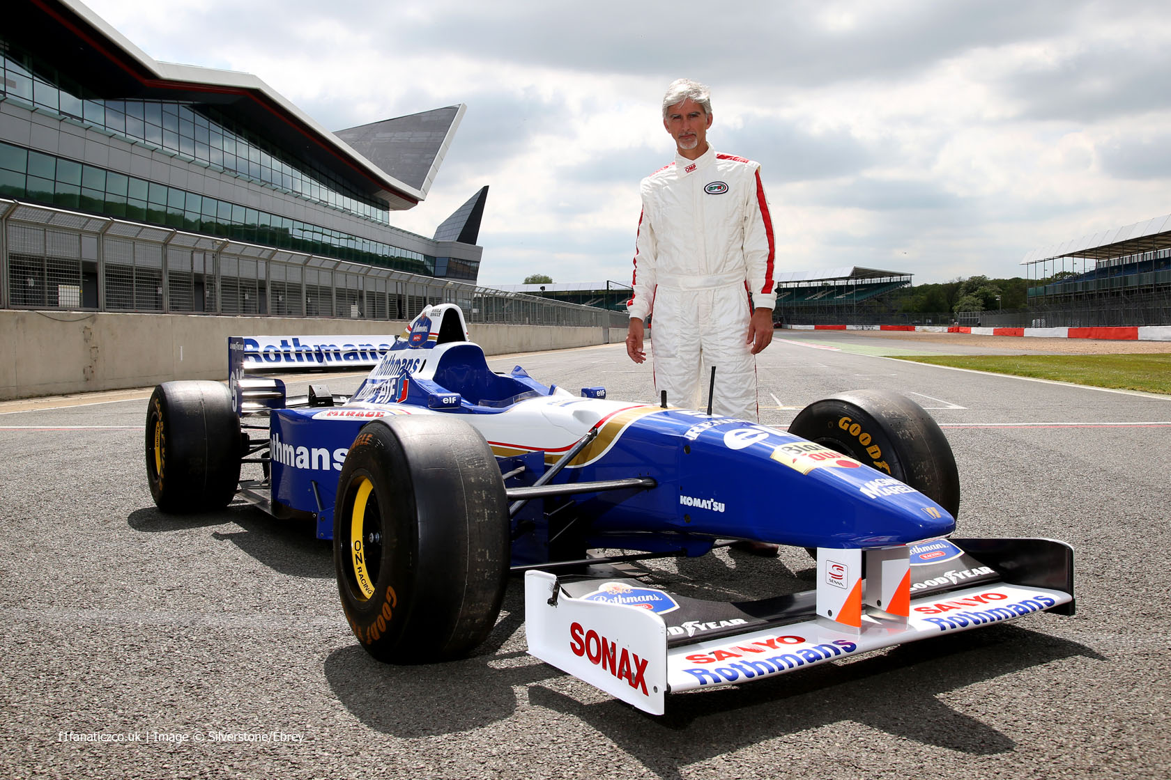 Damon Hill, Williams-Renault FW18, Silverstone, 2014