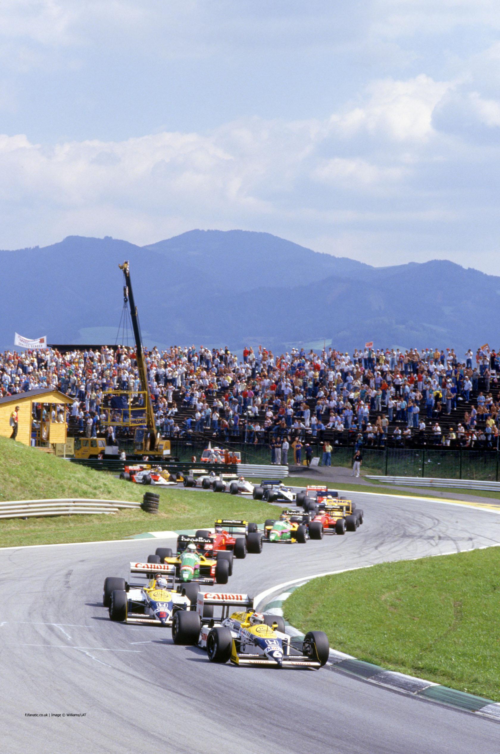 Start, Osterreichring, 1987 Austrian Grand Prix