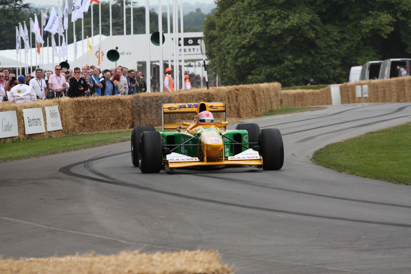 Benetton B192 (2), Goodwood Festival of Speed, 2014