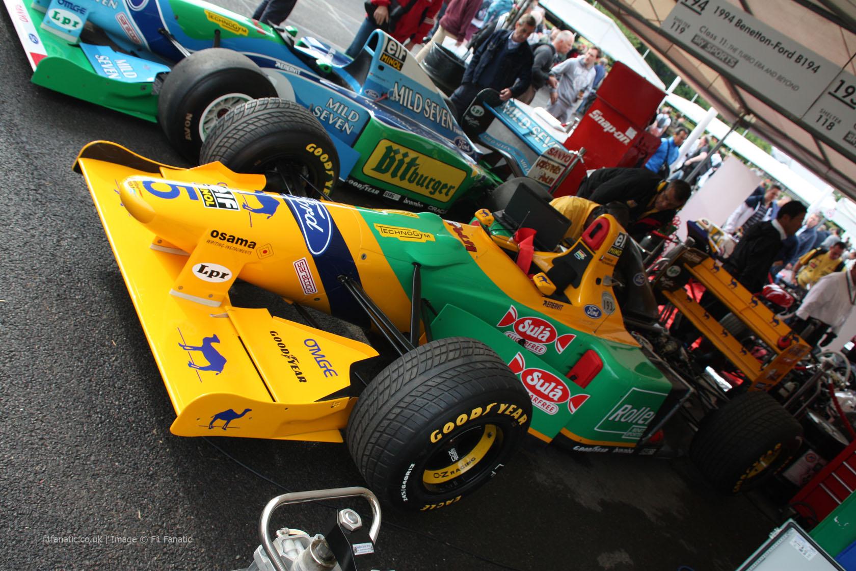 Benetton B193, Goodwood Festival of Speed, 2014