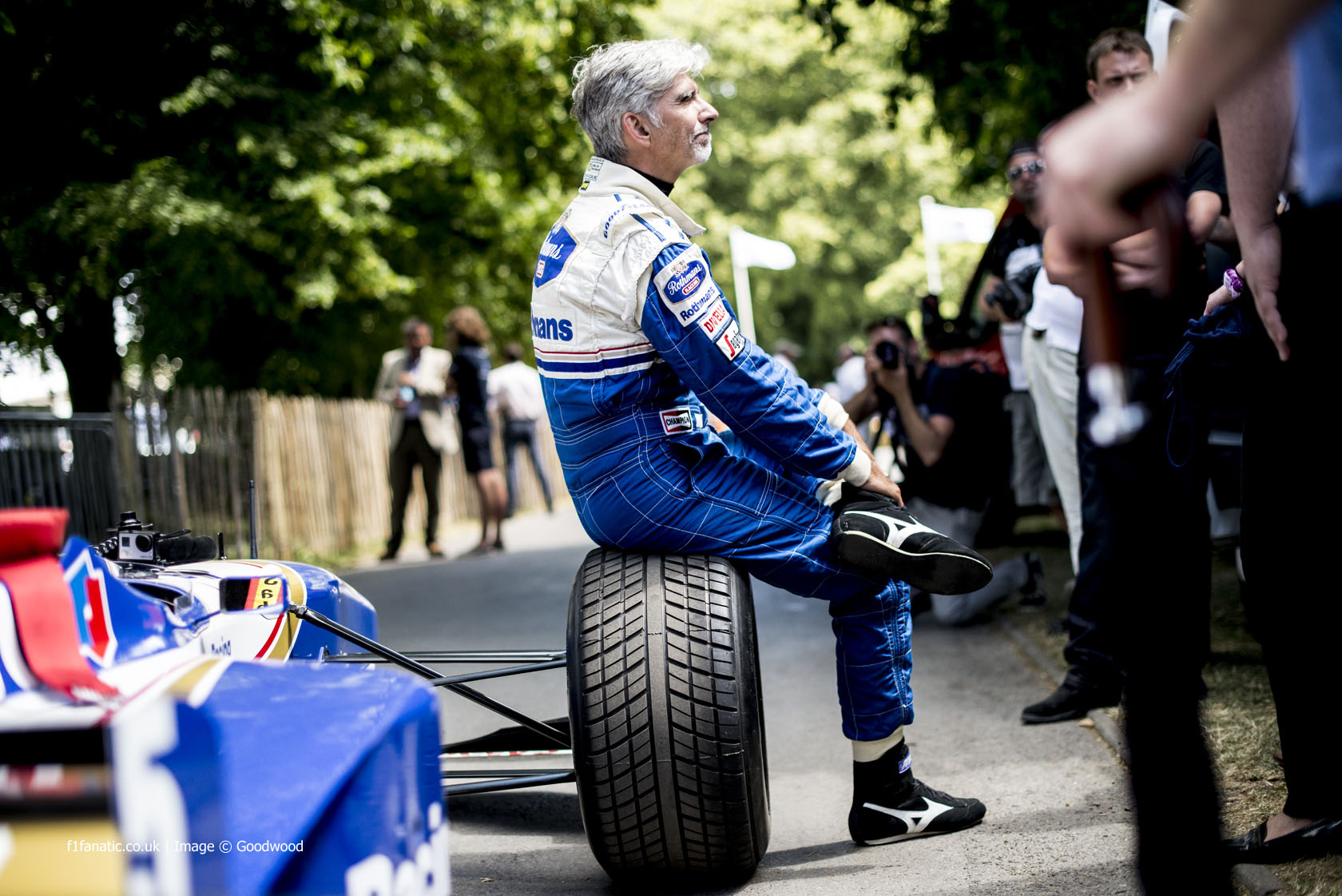 Damon Hill (2), Goodwood Festival of Speed, 2014