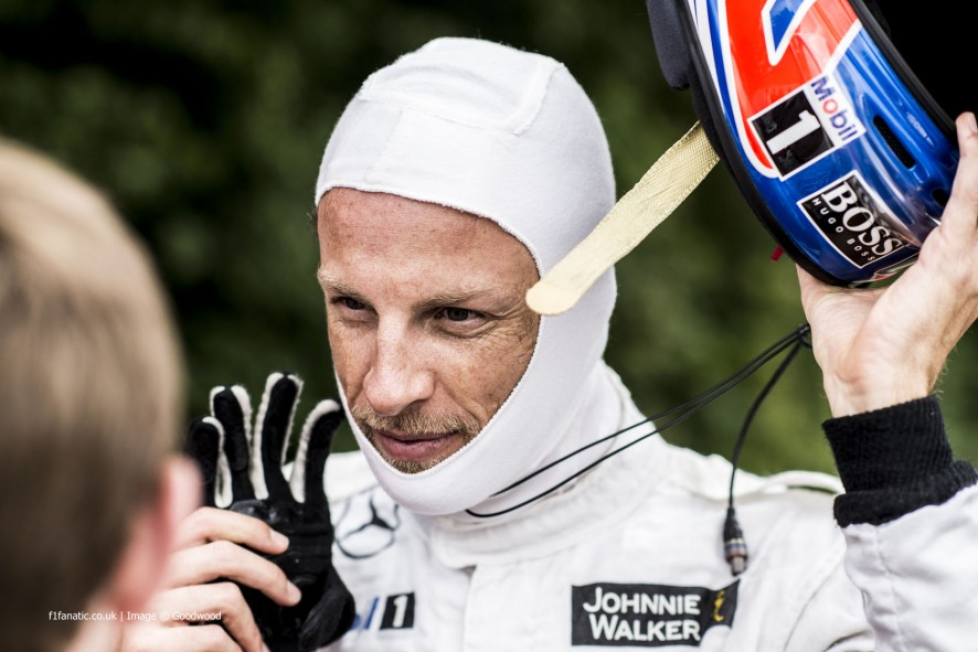 Jenson Button, Goodwood Festival of Speed, 2014