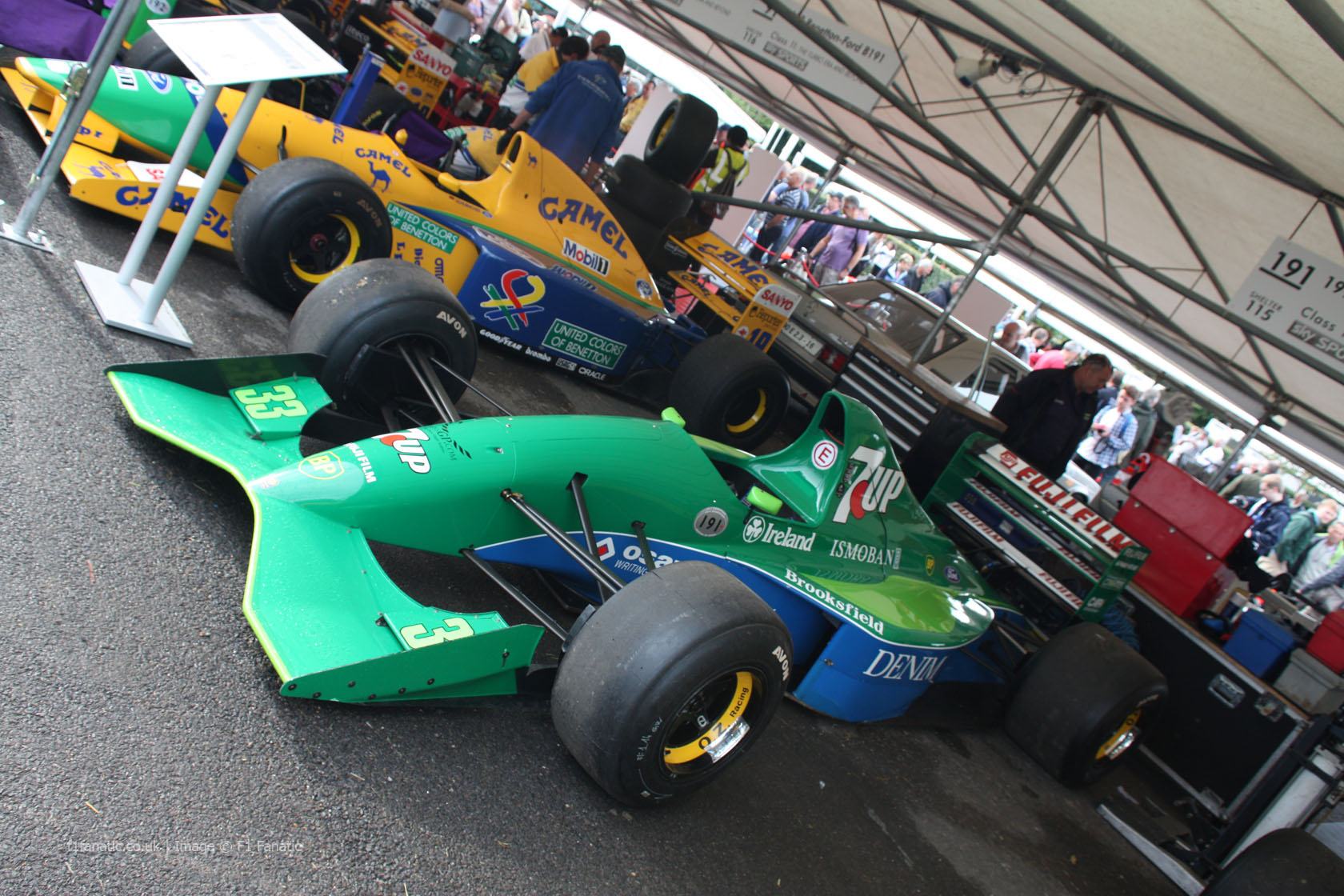 Jordan 191 (2), Goodwood Festival of Speed, 2014