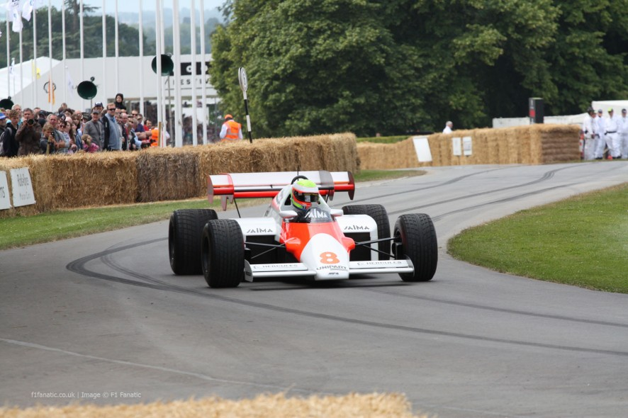 McLaren MP4-2 (2), Goodwood Festival of Speed, 2014