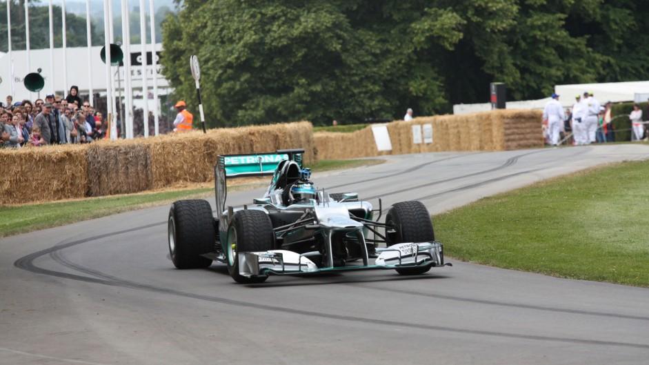 Mercedes W03 (2), Goodwood Festival of Speed, 2014