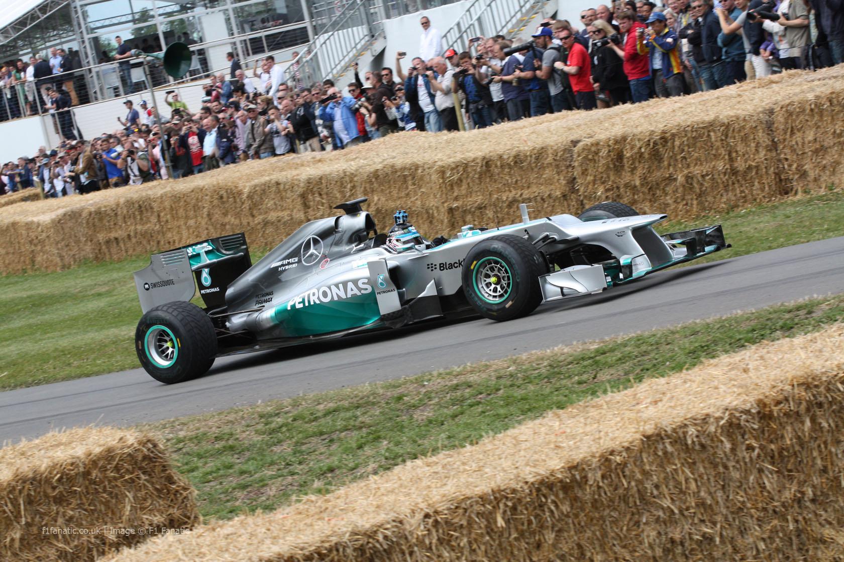 Mercedes W03 (3), Goodwood Festival of Speed, 2014