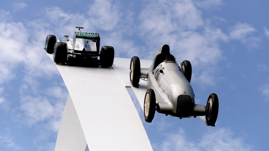 Mercedes central display, Goodwood Festival of Speed, 2014