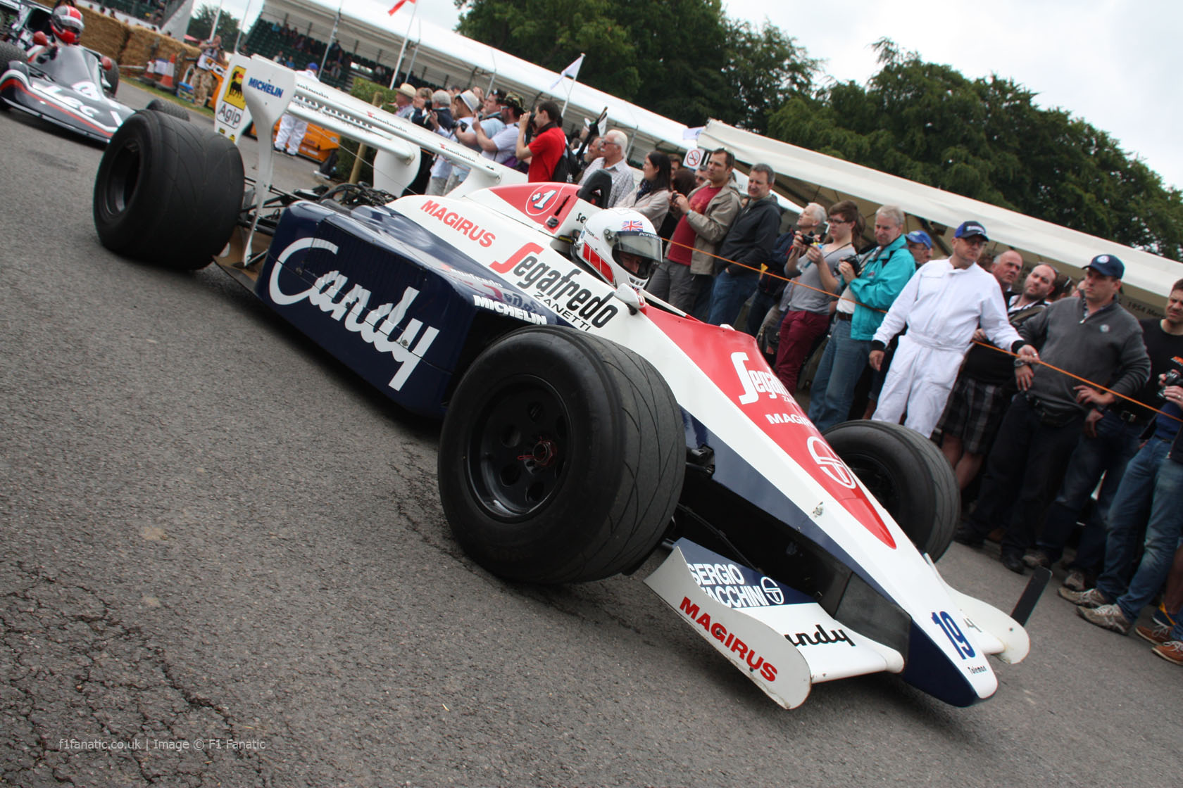 Toleman TG184 (1), Goodwood Festival of Speed, 2014