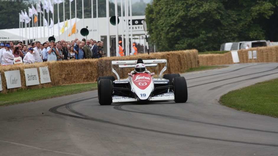 Toleman TG184 (2), Goodwood Festival of Speed, 2014