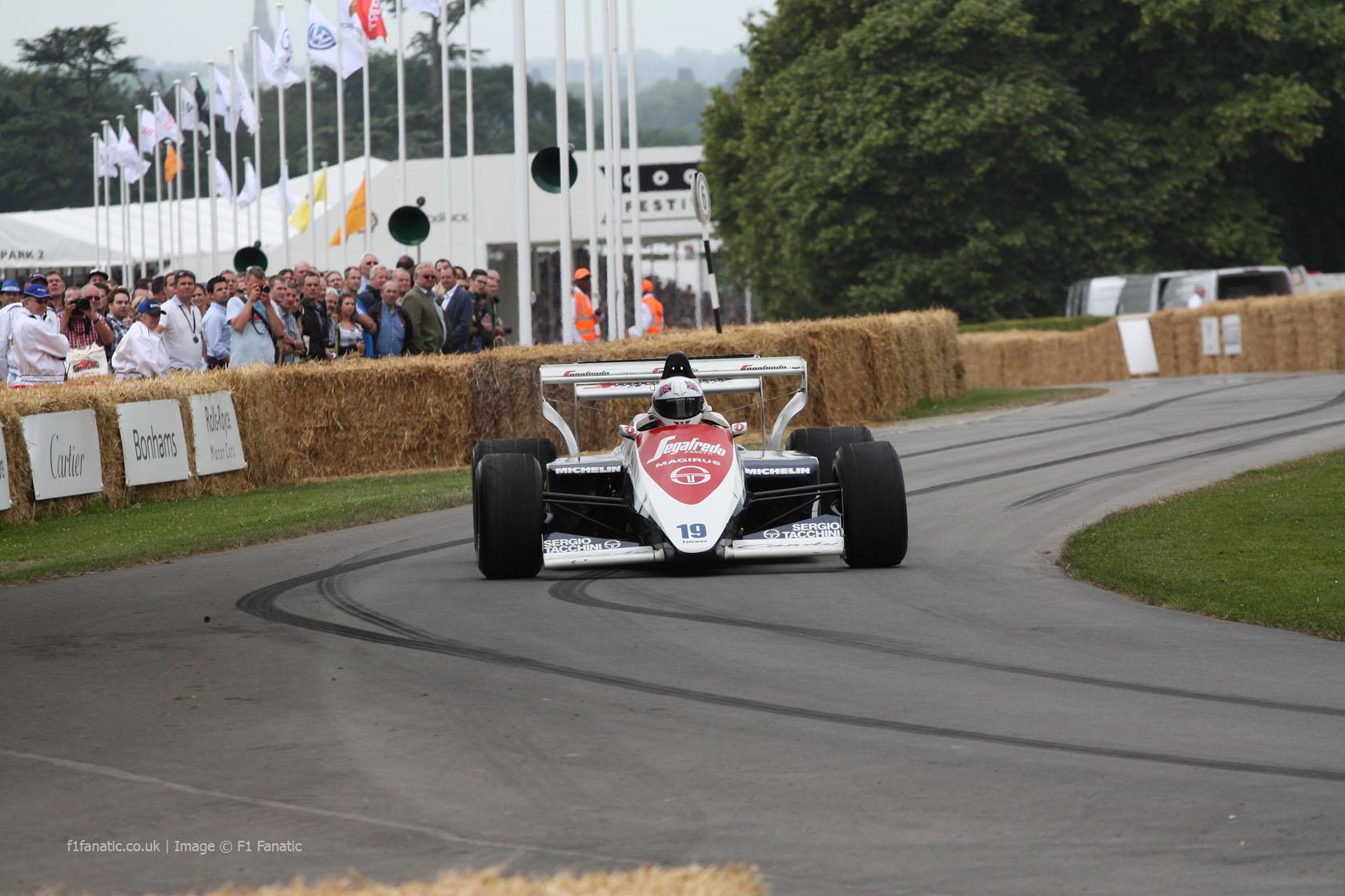 Toleman TG184 (2), Goodwood Festival of Speed, 2014