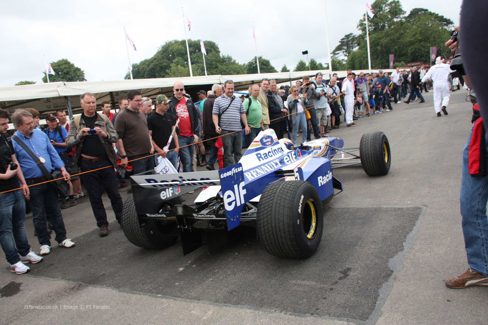 Williams FW18 (1), Goodwood Festival of Speed, 2014