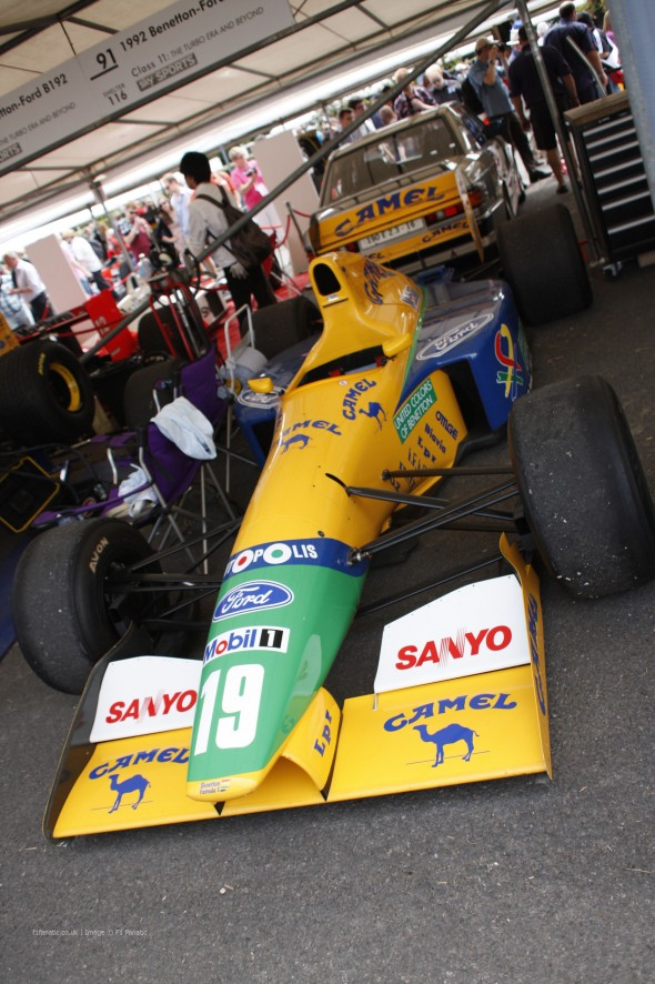 Benetton B191, Goodwood Festival of Speed, 2014