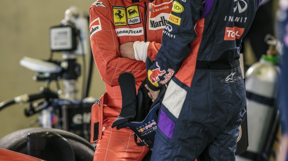 Gerhard Berger, Sebastian Vettel, Red Bull Ring, 2014