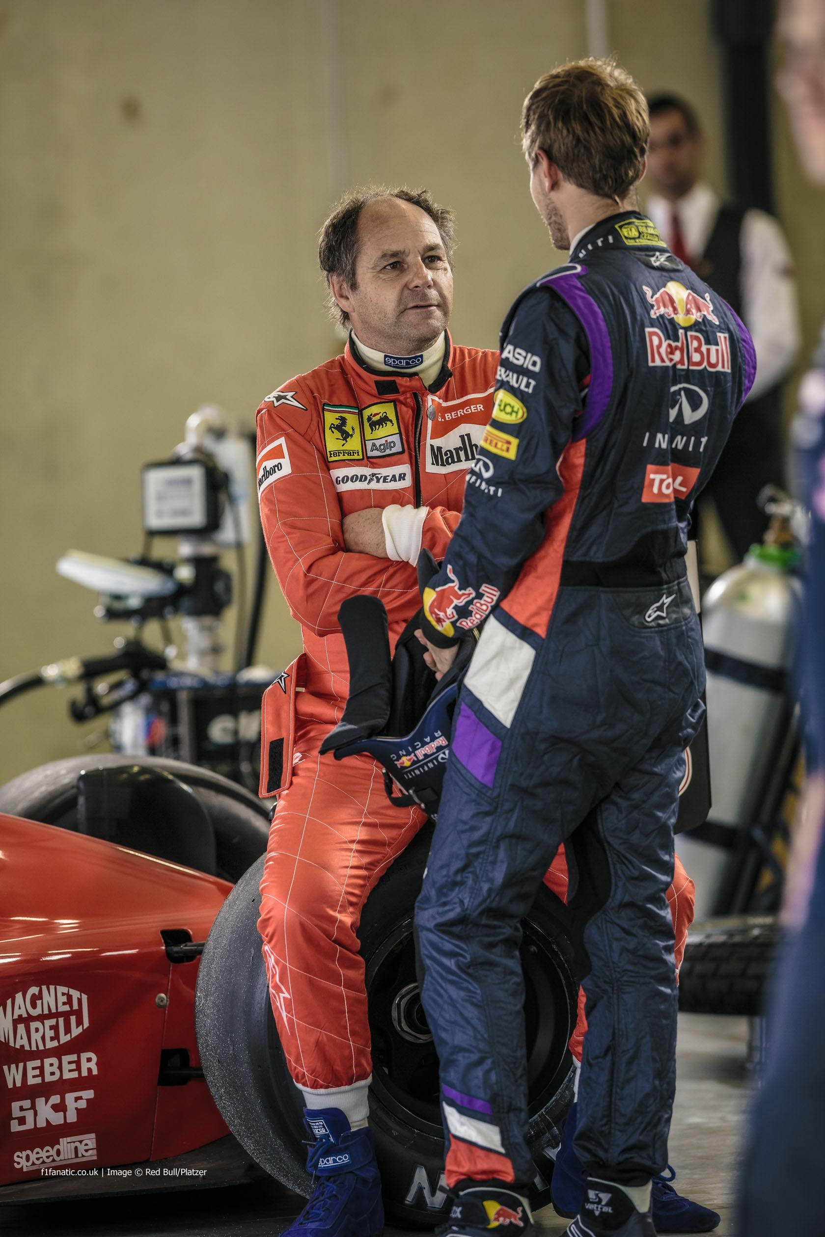 Gerhard Berger, Sebastian Vettel, Red Bull Ring, 2014