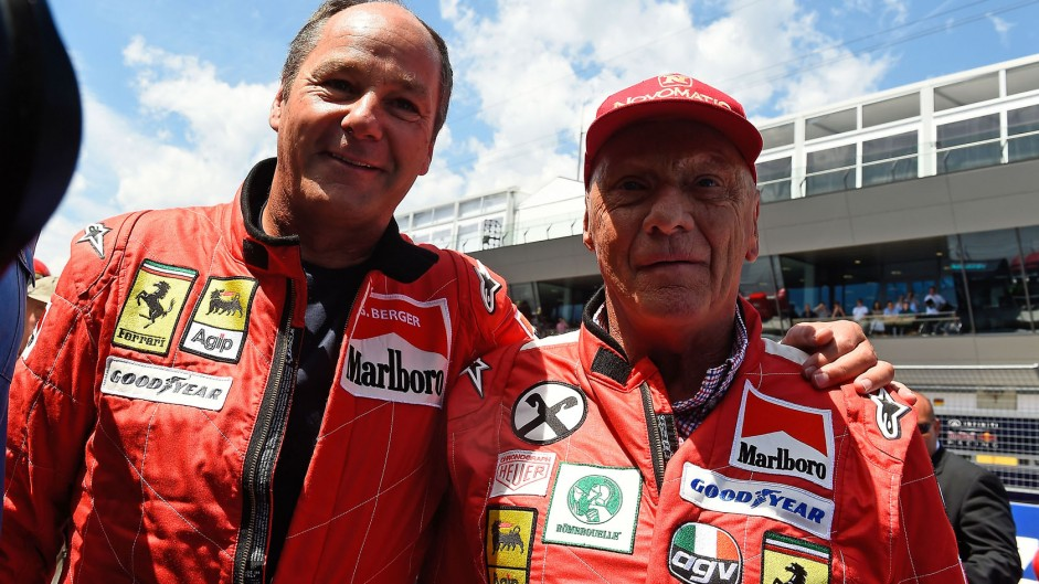 Gerhard Berger, Niki Lauda, Red Bull Ring, 2014