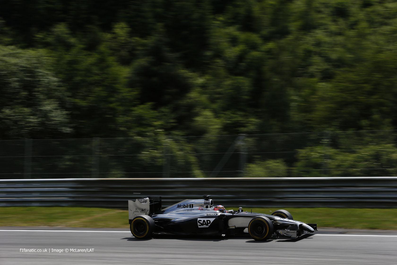 Jenson Button, McLaren, Red Bull Ring, 2014