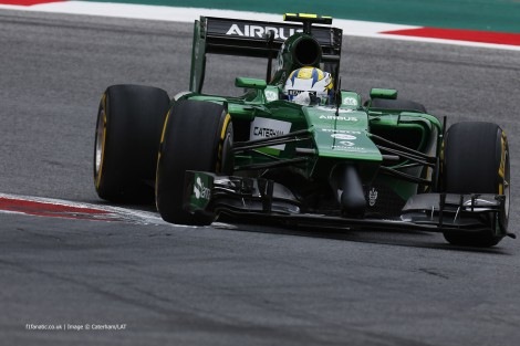 Marcus Ericsson, Caterham, Red Bull Ring, 2014