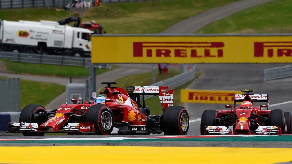 Fernando Alonso, Kimi Raikkonen, Ferrari, Red Bull Ring, 2014
