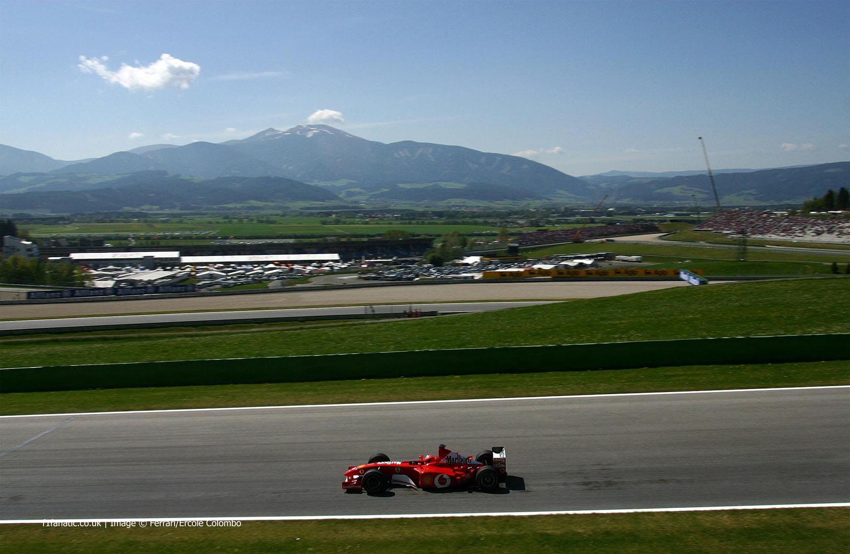 Michael Schumacher, Ferrari, A1-Ring, 2002