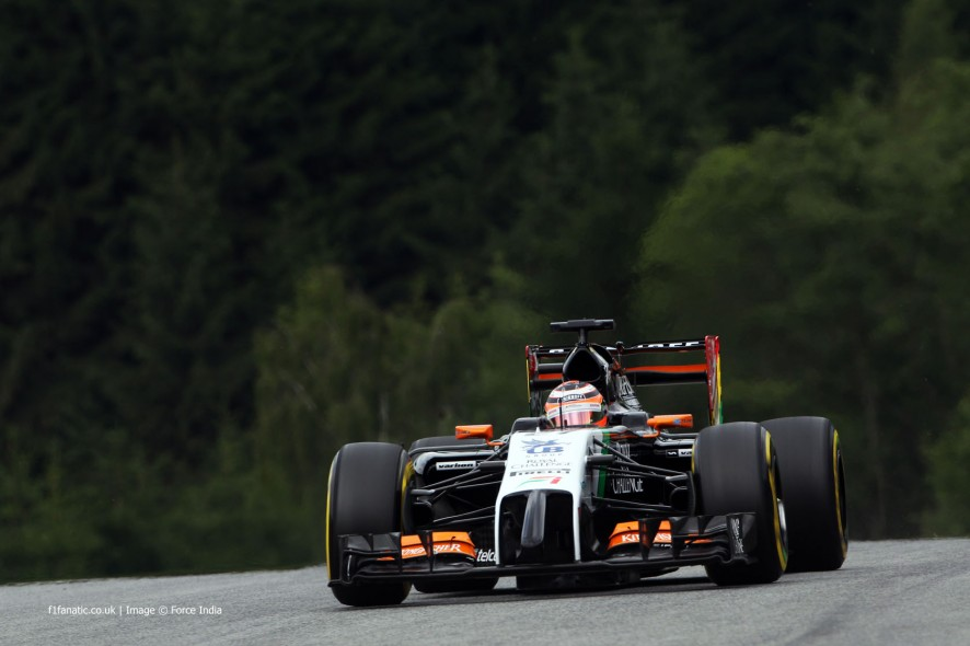 Nico Hulkenberg, Force India, Red Bull Ring, 2014