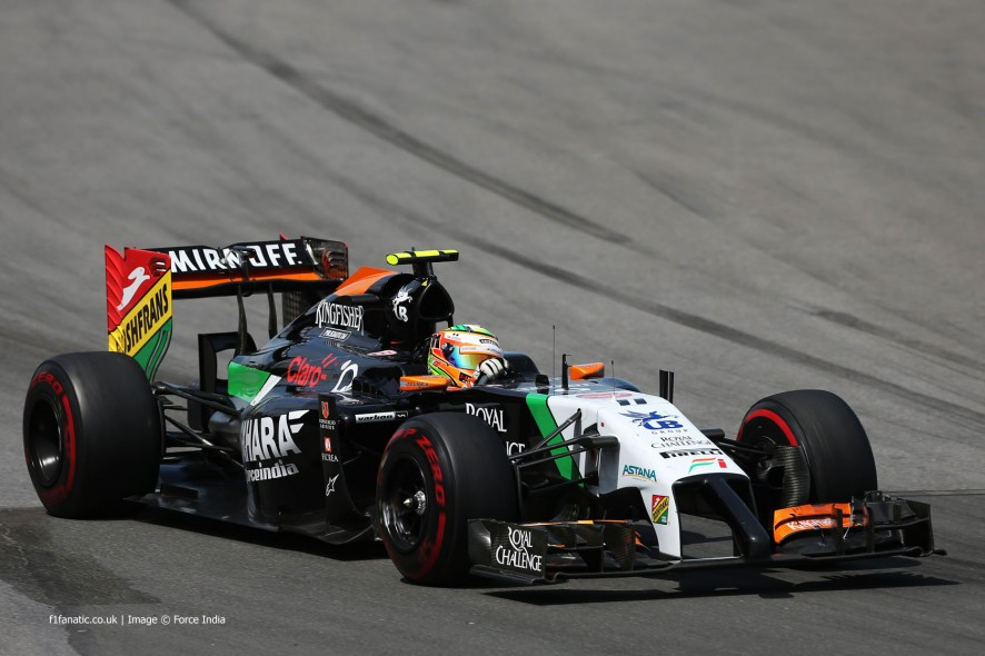 Sergio Perez, Force India, Circuit Gilles Villeneuve, 2014