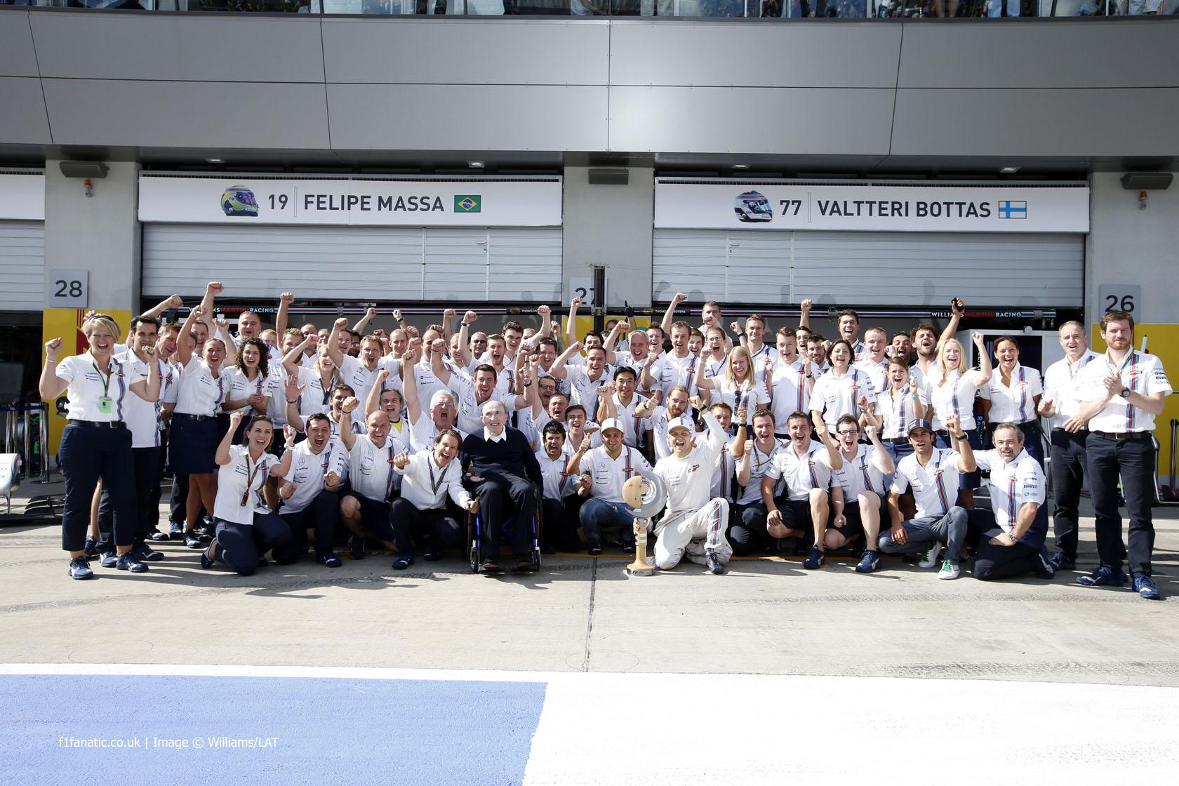 Frank Williams, Valtteri Bottas, Felipe Massa, Williams, Red Bull Ring, 2014