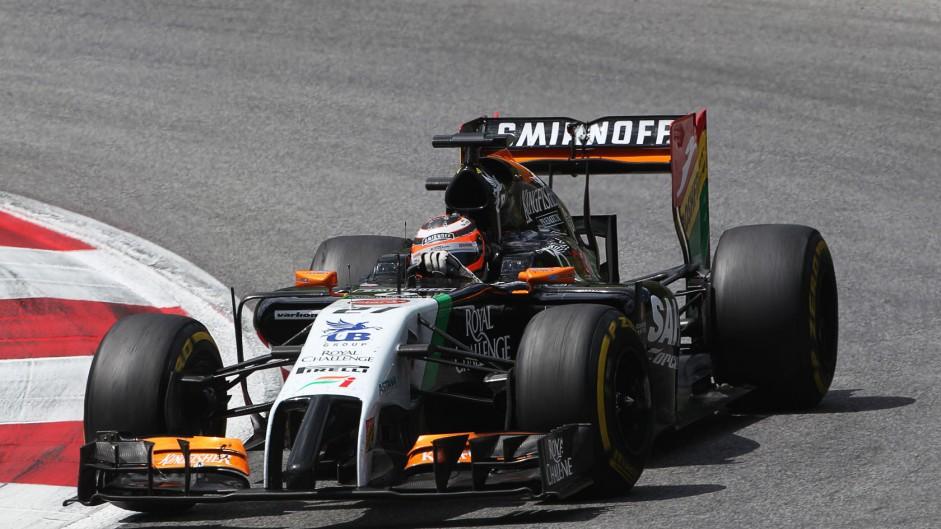Nico Hulkenberg, Force India, Red Bull Ring, 2014