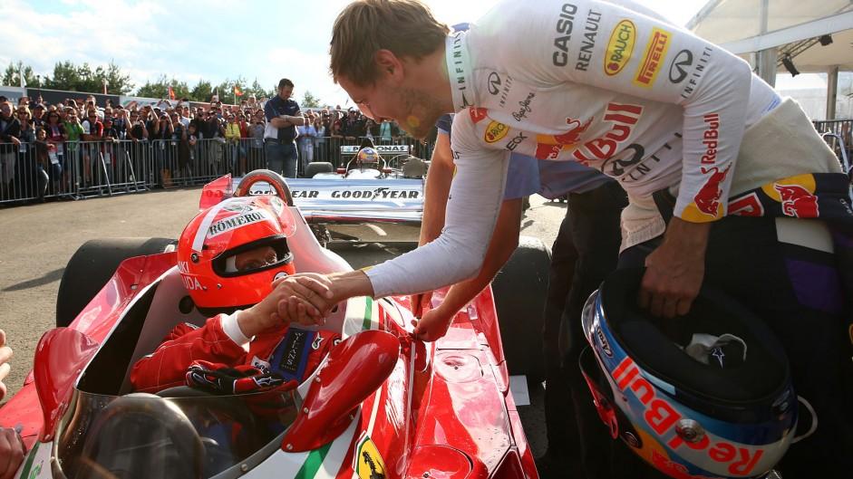 Niki Lauda, Sebastian Vettel, Red Bull, Red Bull Ring, 2014