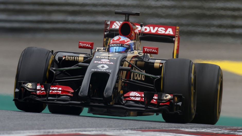 Romain Grosjean, Lotus, Red Bull Ring, 2014