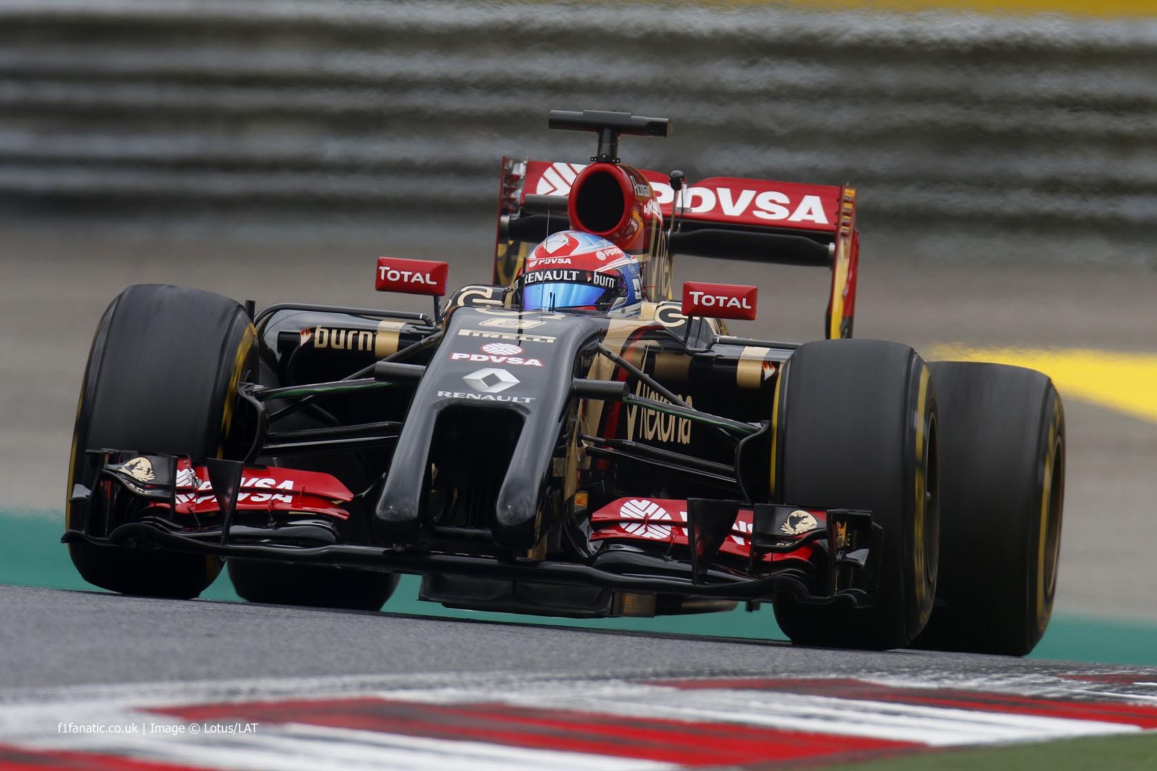 Romain Grosjean, Lotus, Red Bull Ring, 2014