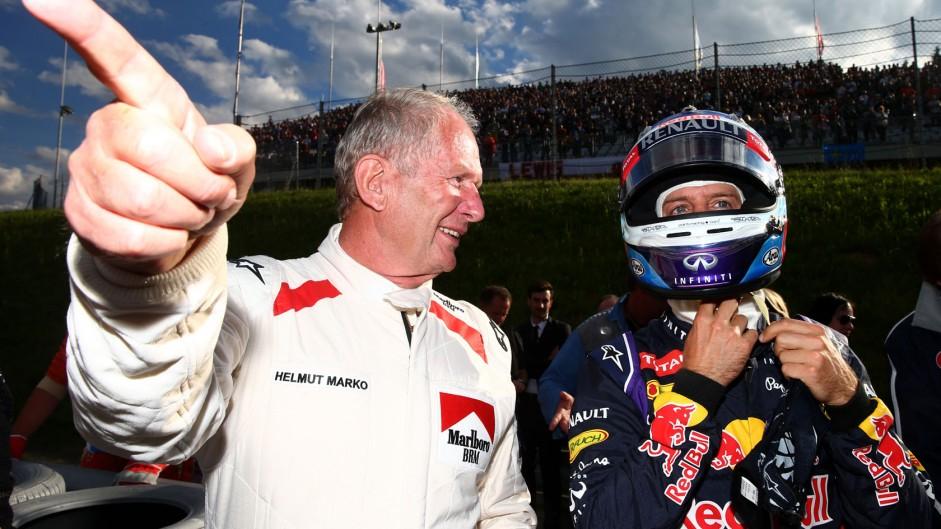 Helmut Marko, Sebastian Vettel, Red Bull, Red Bull Ring, 2014