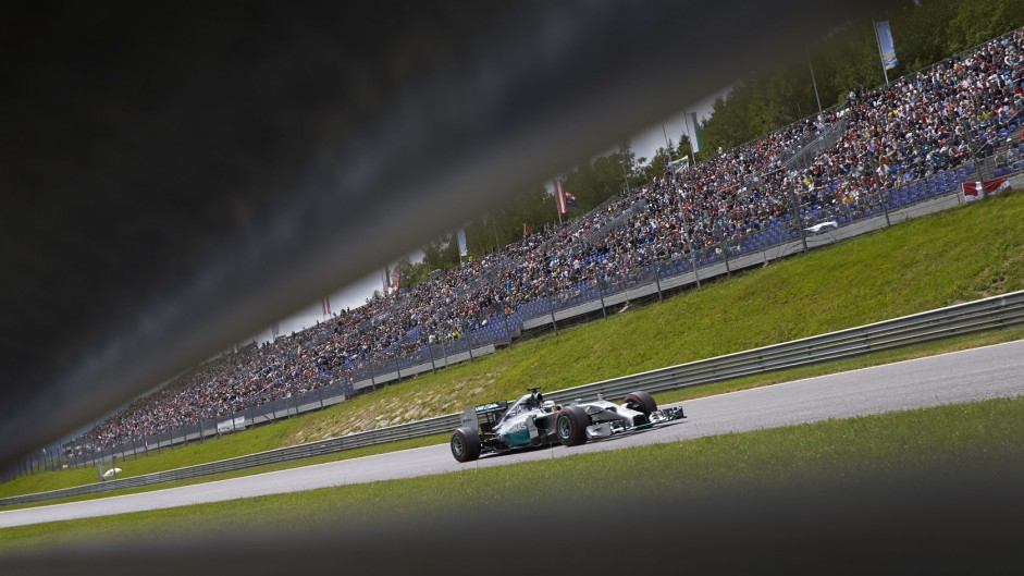 Lewis Hamilton, Mercedes, Red Bull Ring, 2014