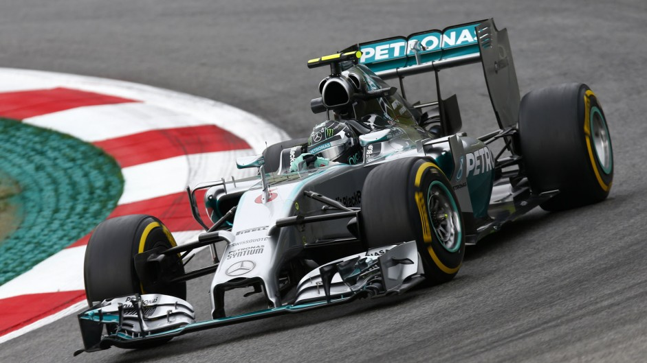 Rosberg leads first practice despite problems
