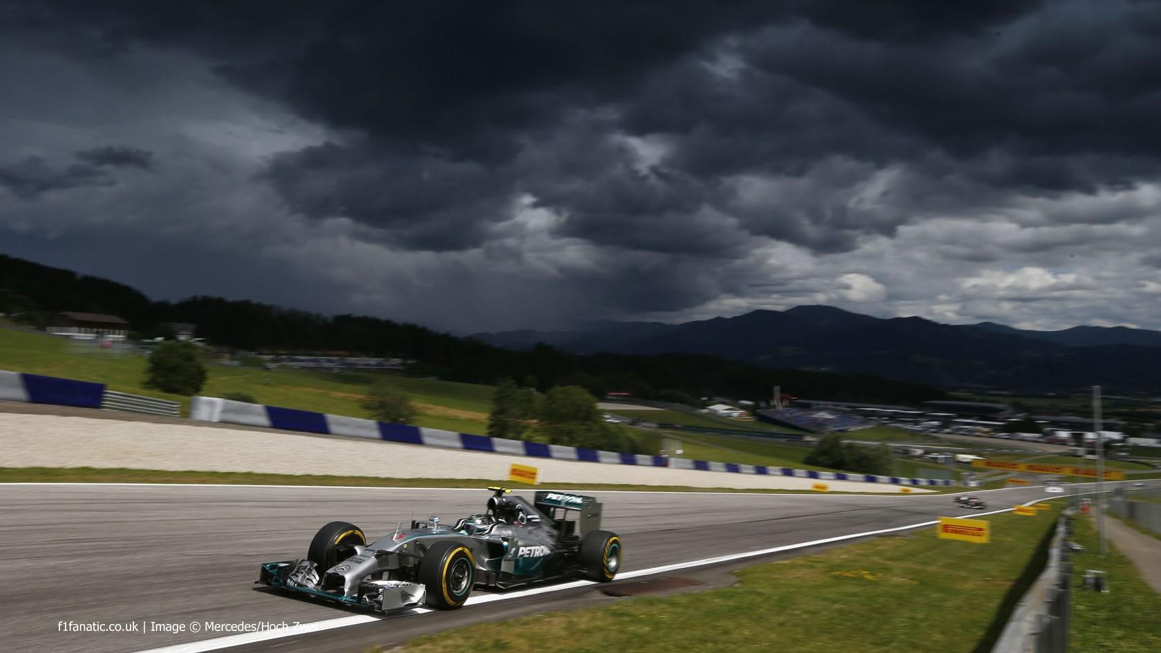 Nico Rosberg, Mercedes, Red Bull Ring, 2014