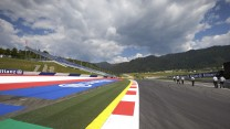 Turn one exit, Red Bull Ring, 2014