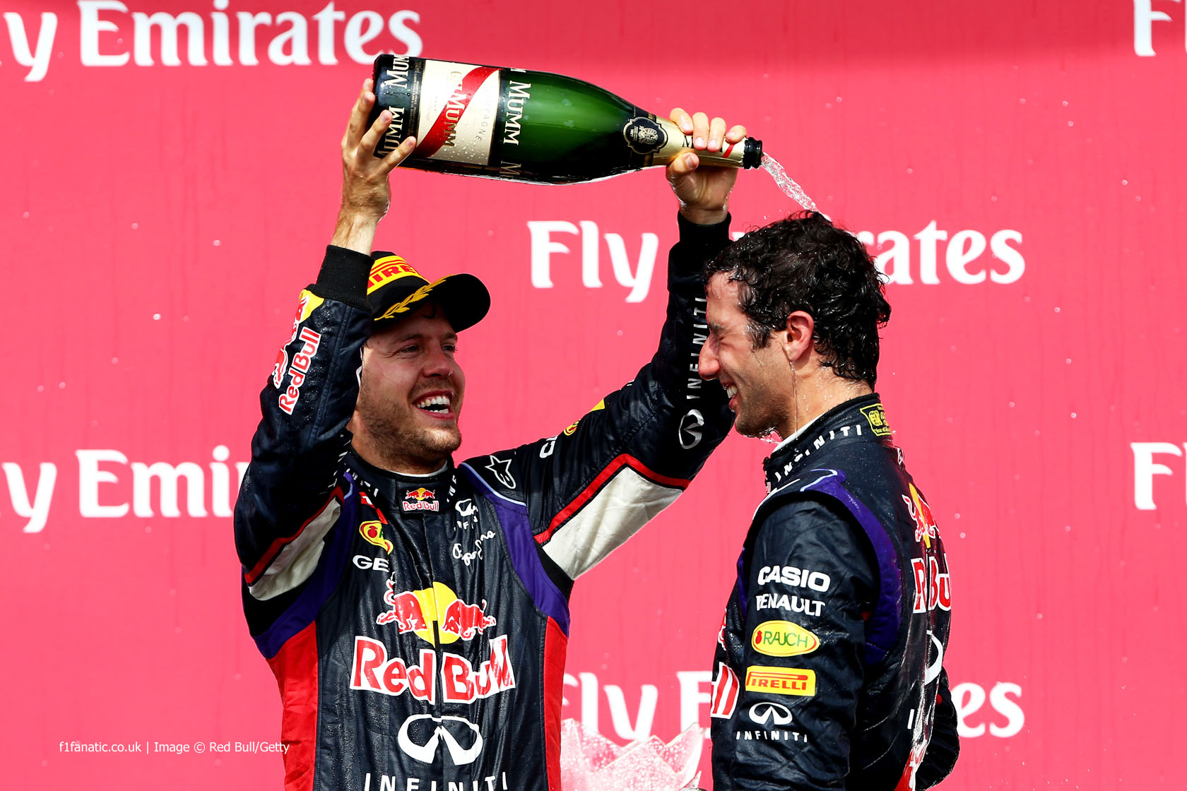 Sebastian Vettel, Daniel Ricciardo, Red Bull, Circuit Gilles Villeneuve, 2014