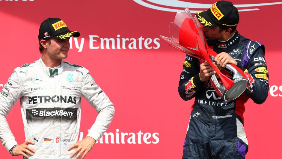 Nico Rosberg, Daniel Ricciardo, Red Bull, Circuit Gilles Villeneuve, 2014