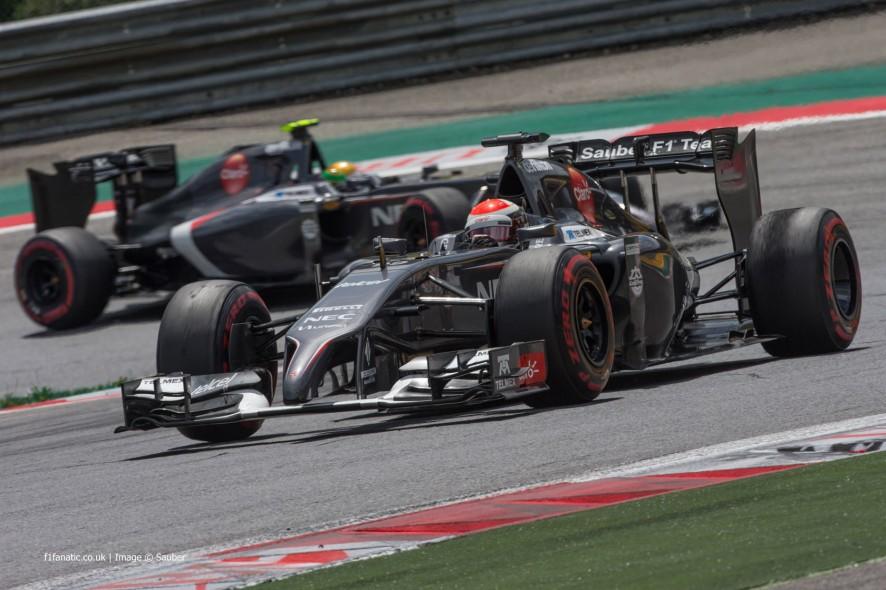 Adrian Sutil, Sauber, Red Bull Ring, 2014