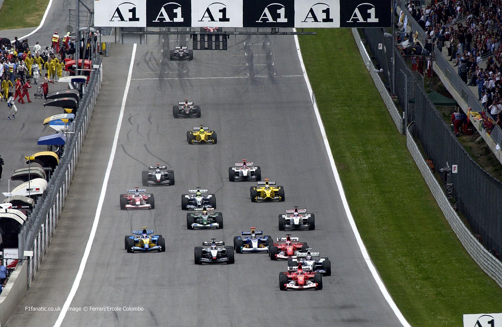 Start, A1-Ring, 2003 Austrian Grand Prix