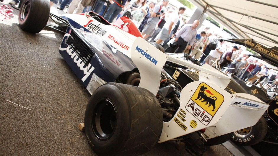 Toleman TG184, Goodwood Festival of Speed, 2014