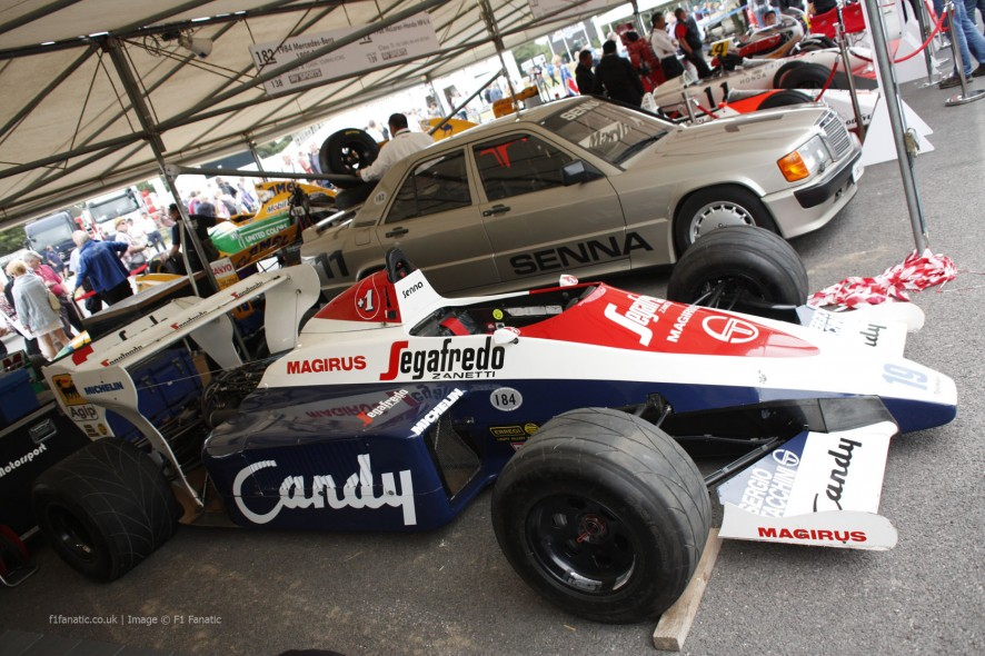 Toleman TG184, Goodwood Festival of Speed, 2014