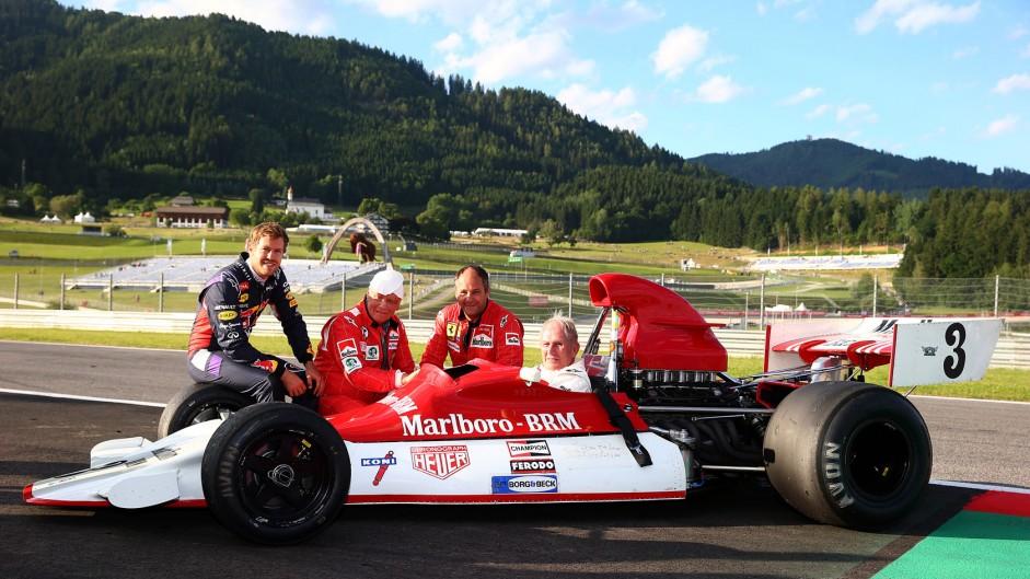 Sebastian Vettel, Niki Lauda, Gerhard Berger, Helmut Marko, Red Bull Ring, 2014