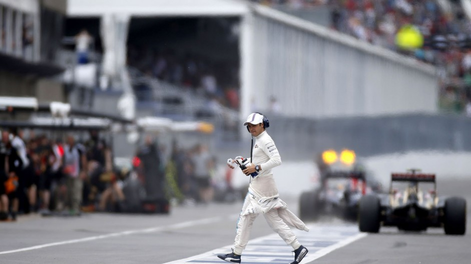 Massa taken to hospital after crash