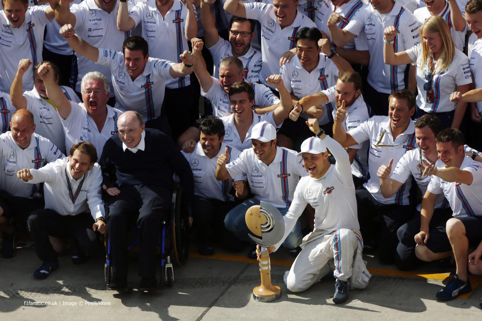 Frank Williams, Felipe Massa, Valtteri Bottas, Williams, Red Bull Ring, 2014