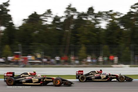 Pastor Maldonado, Romain Grosjean, Lotus, Hockenheimring, 2014