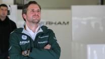 Christijan Albers, Caterham, Silverstone test, 2014