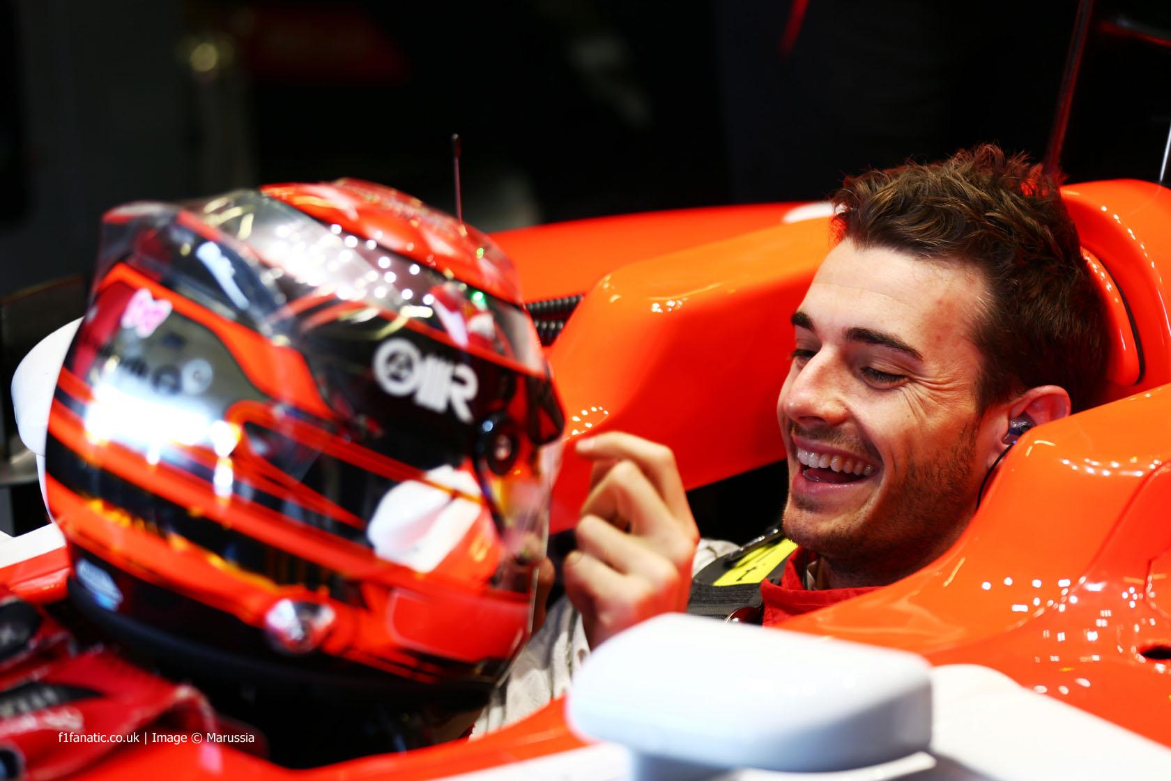 Jules Bianchi, Marussia, Silverstone test, 2014