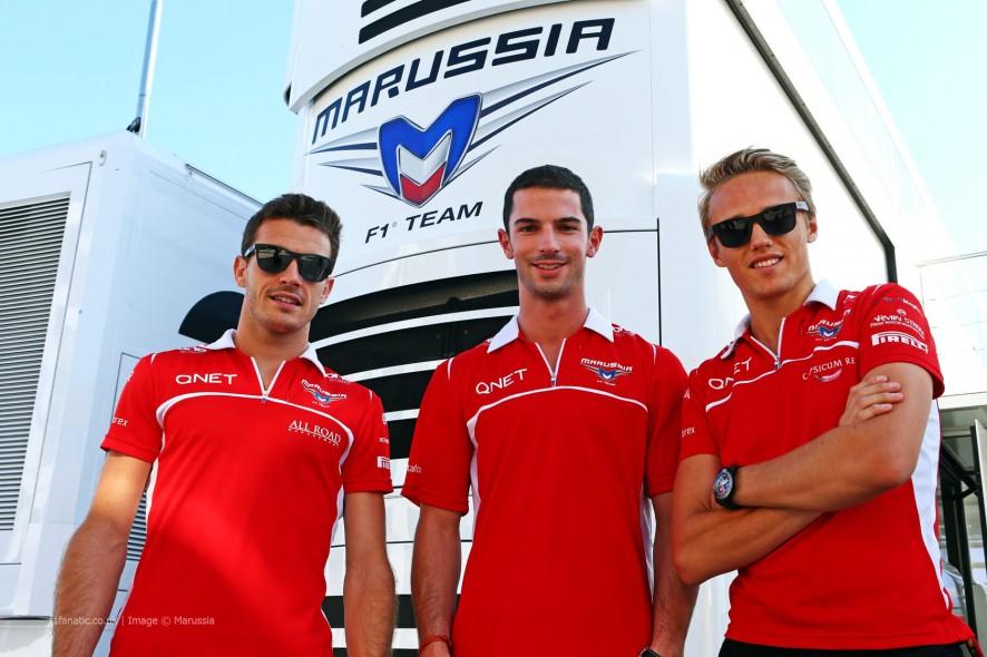 Jules Bianchi, Alexander Rossi, Max Chilton, Marussia, 2014