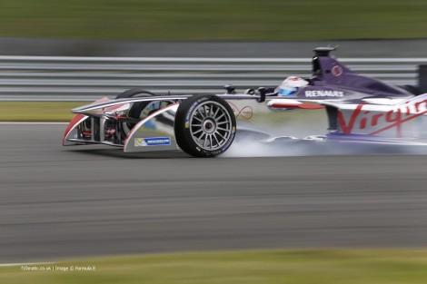 Sam Bird, Virgin, Formula E test, Donington Park, 2014