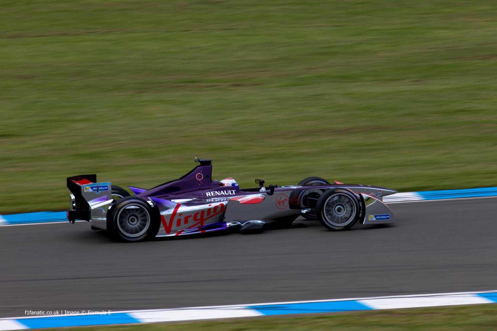 Sam Bird, Virgin, Formula E test, Donington Park, 2014